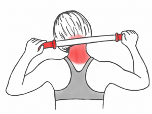 Soft Tissue Therapy - Massaging the Neck and Trapezius Muscles with the Stick
