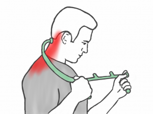 Soft Tissue Therapy - Thera Caning the Neck and Trapezius Muscles
