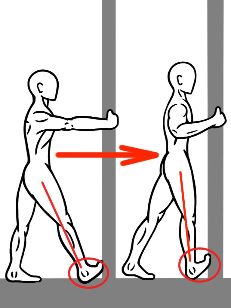 PreHab Exercises - PNF Calf Stretch against the wall for Foot and Ankle Mobility and Activation