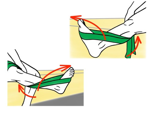 PreHab Exercises - Inversion and Eversion with Resistance Band for Foot and Ankle Activation and Stability1