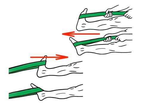 PreHab Exercises - Plantar Flexion and Dorsi Flexion with Resistance Band for Foot and Ankle Activation and Stability