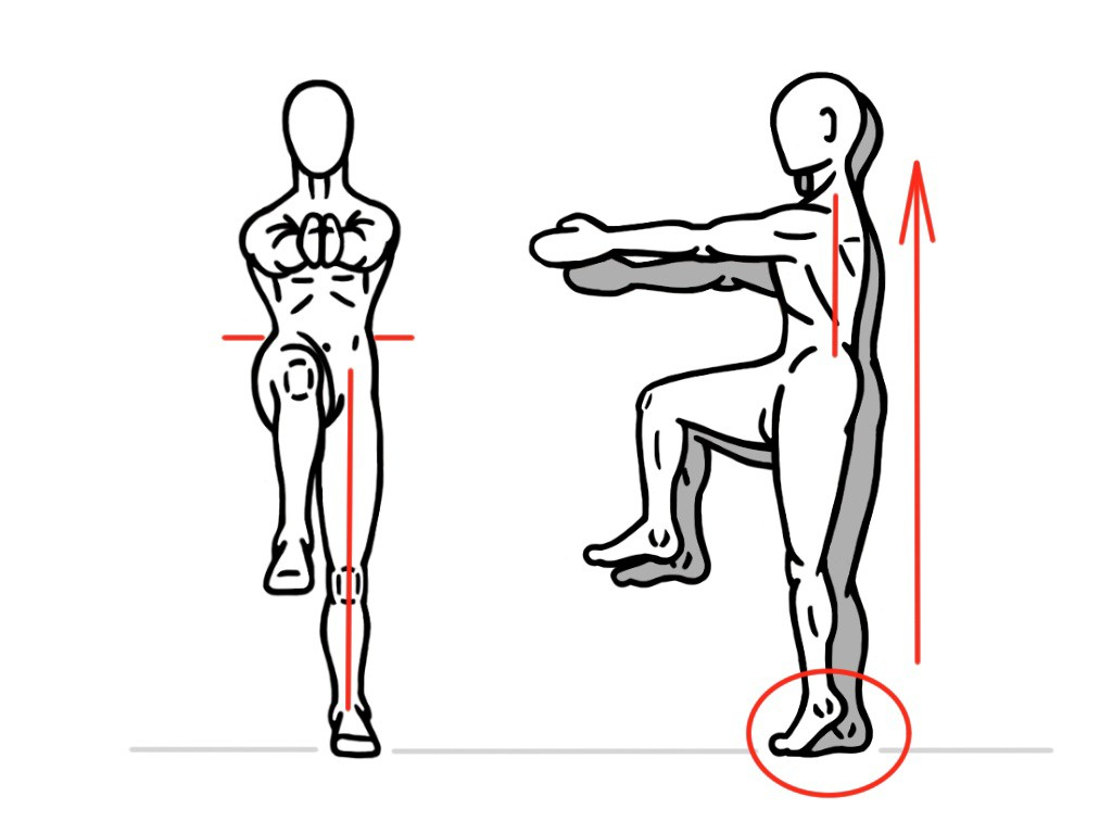 PreHab Exercises - Single-Leg Heel Lift for Foot an Ankle activation and Stability