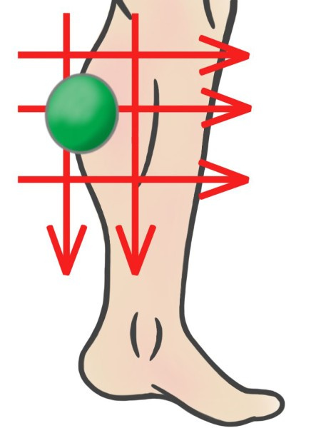 Soft Tissue Therapy - Ball Hatching over Calf
