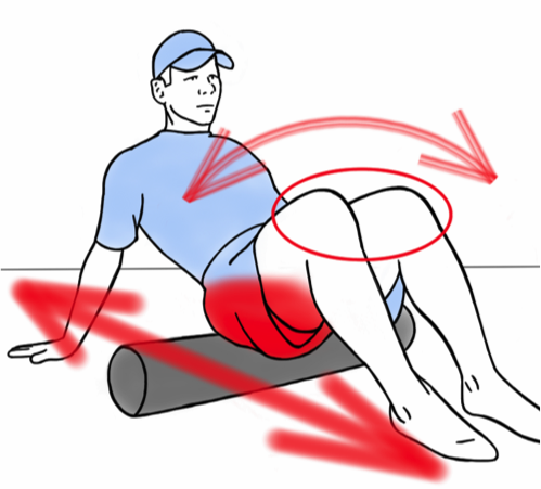 Soft Tissue Therapy - Foam Rolling the Hips - Oscillating