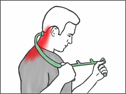 Soft Tissue Therapy - Using the Thera Cane on the Neck