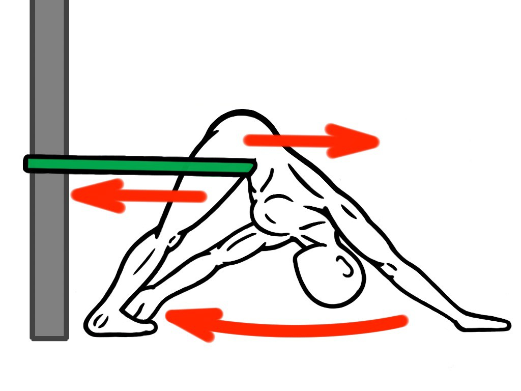 Joint Distraction - Ankle and Hip Mobility - Down Dog with Ankle Touch for Hip Flexion and Hip Adduction - Targets Posterior Chain