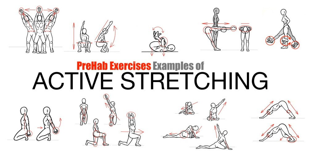 PreHab Exercises - Examples of Active Stretching