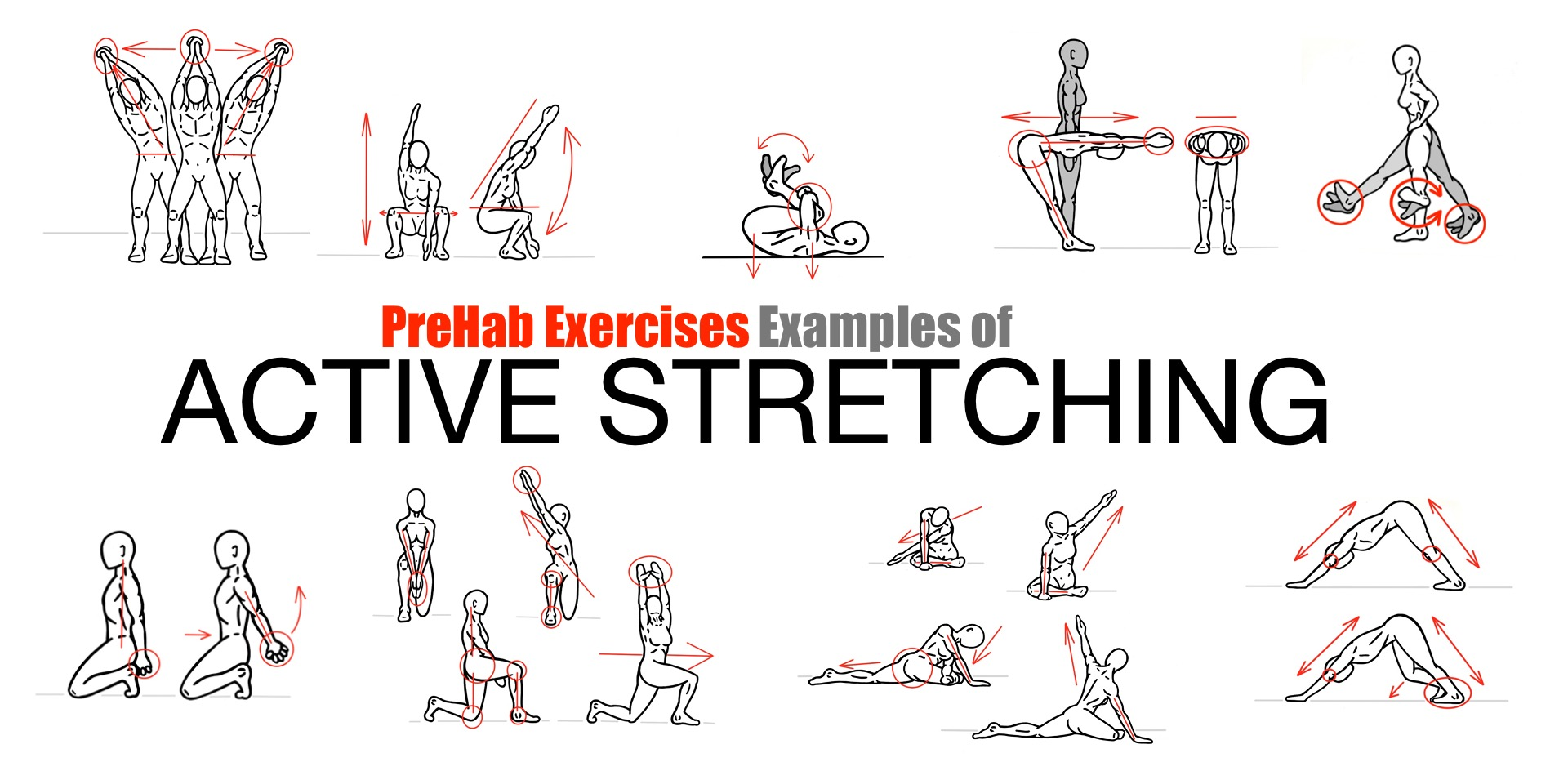 The art of stretching prehab exercises.