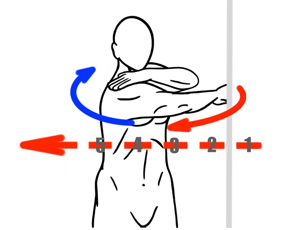 Stretching - Eccentric Shoulder and Upper Back Stretch for Thoracic and Shoulder Mobility - Eccentric Stretches
