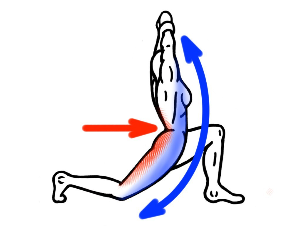 Stretching - PNF Stretch - Contract:Hold - Kneeling Lunge with Lateral Flexion for the Hip Flexors and Lats