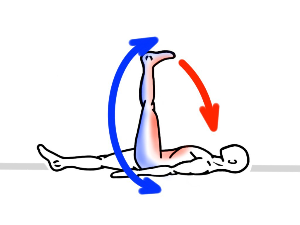 Stretching - PNF Stretch - Contract:Hold - Supine Leg Lift for the Posterior Chain