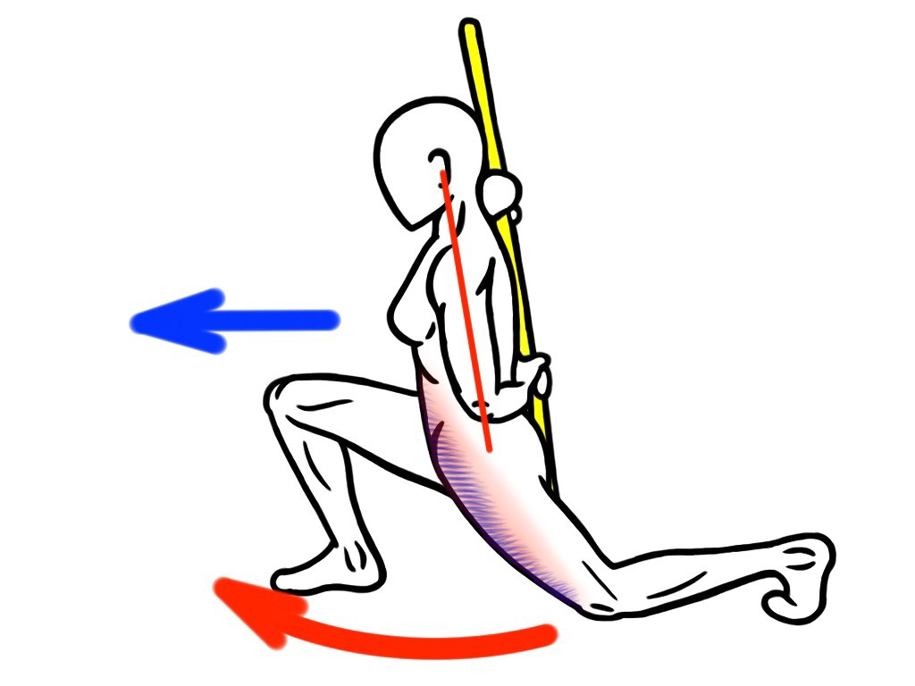 Stretching - PNF Stretch - Contract:Relax - Kneeling Lunge Stretch for the Hip Flexors