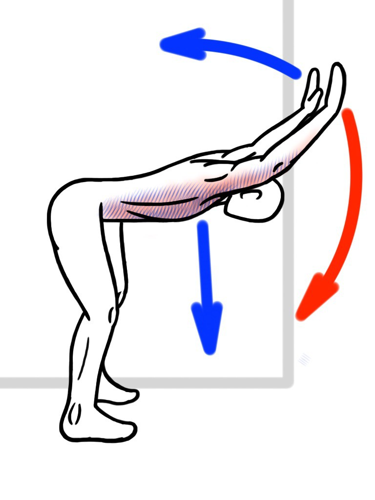 Stretching - PNF Stretch - Contract:Relax - Wall Assisted Shoulder Flexion (Chest Expansion) for Thoracic Spine and Shoulder Mobility - Stretch for Chest, Lats and Shoulders