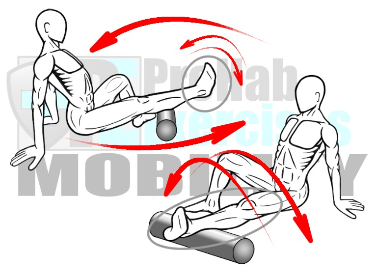 prehab-exercises-foam-rolling-the-gastrocnemius-and-soleus-muscles-with-oscillations-calf-muscles-for-ankle-mobility-and-stability