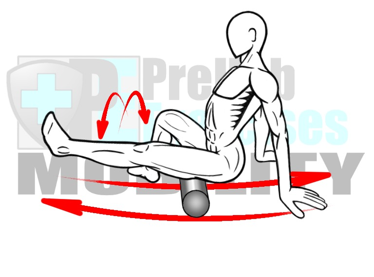 prehab-exercises-foam-rolling-the-hamstring-complex-posterior-leg-muscles-for-knee-alignment-and-range-of-motion-and-hip-mobility-and-stability