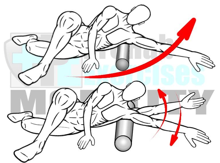 Image result for foam roller shoulder blades