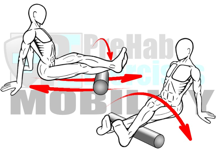 prehab-exercises-foam-rolling-the-peroneals-and-gastrocnemius-lateral-calf-muscles-for-knee-and-ankle-alignment-mobility-and-stability