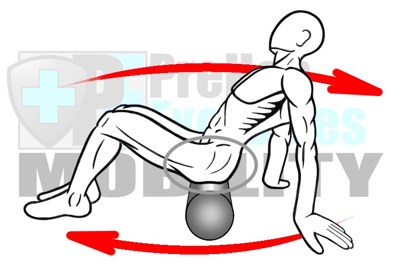prehab-exercises-foam-rolling-the-posterior-hip-hip-external-rotators-gluteus-complex-and-piriformis-muscles-for-hip-mobility-alignment-and-stability