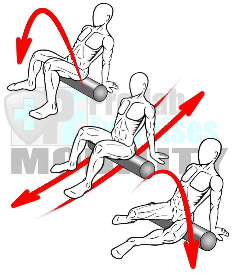 prehab-exercises-foam-rolling-the-posterior-hip-and-gluteus-complex-hip-muscles-with-joint-articulation-for-hip-mobility-alignment-and-stability