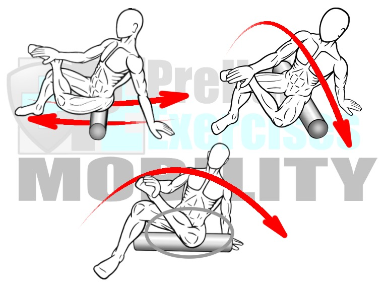 prehab-exercises-foam-rolling-the-posterior-and-lateral-hip-hip-external-rotators-and-piriformis-muscles-for-hip-mobility-alignment-and-stability