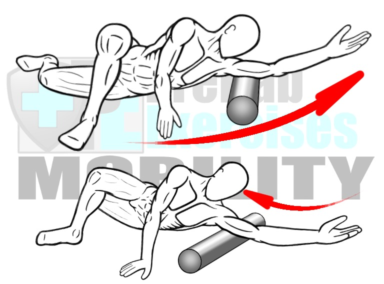 prehab-exercises-foam-rolling-the-triceps-arm-muscles